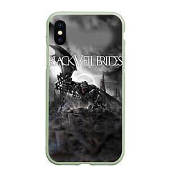 Чехол iPhone XS Max матовый Black Veil Brides: Faithless цвета 3D-салатовый — фото 1