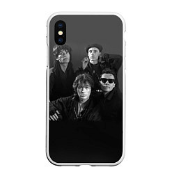 Чехол iPhone XS Max матовый Группа Кино