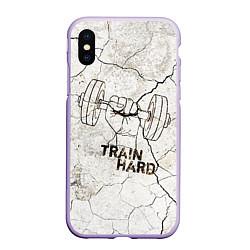 Чехол iPhone XS Max матовый Train hard