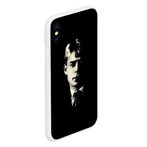 Чехол iPhone XS Max матовый Есенин Ч/Б / 3D-Белый – фото 2