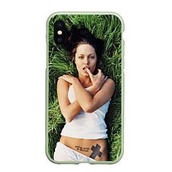 Чехол iPhone XS Max матовый Анджелина Джоли