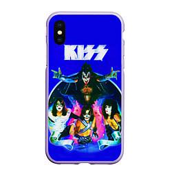 Чехол iPhone XS Max матовый Kiss Show