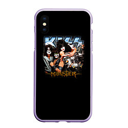 Чехол iPhone XS Max матовый Kiss Monster
