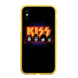 Чехол iPhone XS Max матовый KISS: Death Faces