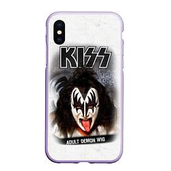 Чехол iPhone XS Max матовый KISS: Adult demon wig