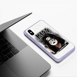 Чехол iPhone XS Max матовый KISS: Adult spaceman wig цвета 3D-светло-сиреневый — фото 2