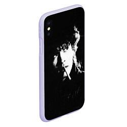 Чехол iPhone XS Max матовый Цой с сигаретой цвета 3D-светло-сиреневый — фото 2
