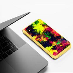 Чехол iPhone XS Max матовый Кислотный взрыв цвета 3D-желтый — фото 2