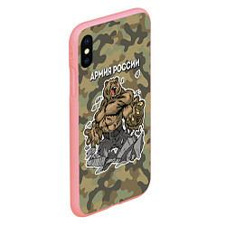 Чехол iPhone XS Max матовый Армия России: ярость медведя цвета 3D-баблгам — фото 2