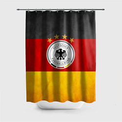 Шторка для душа Сборная Германии цвета 3D-принт — фото 1