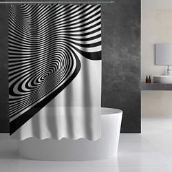 Шторка для душа Black & White Illusion цвета 3D — фото 2
