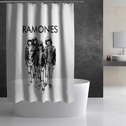 Шторка для душа Ramones Party цвета 3D-принт — фото 2