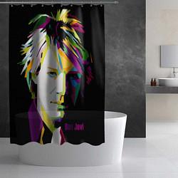 Шторка для душа Jon Bon Jovi Art цвета 3D — фото 2