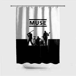 Шторка для душа Muse B&W цвета 3D — фото 1