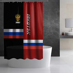 Шторка для душа Irkutsk, Russia цвета 3D-принт — фото 2