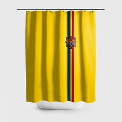 Шторка для душа Молдавия: лента с гербом цвета 3D-принт — фото 1