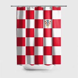 Шторка для душа Сборная Хорватии: Домашняя ЧМ-2018 цвета 3D-принт — фото 1