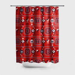 Шторка для душа Masha Football цвета 3D — фото 1