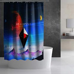 Шторка для душа No Man's Sky: Galaxy цвета 3D — фото 2