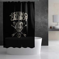 Шторка для душа Eskimo Callboy: Bones цвета 3D-принт — фото 2