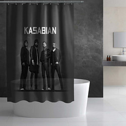 Шторка для душа Kasabian: Boys Band цвета 3D-принт — фото 2