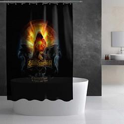 Шторка для душа Blind Guardian: Guide to Space цвета 3D-принт — фото 2