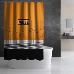 Шторка для душа Muse: Orange Mood цвета 3D-принт — фото 2