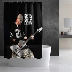 Шторка для душа System of a Down цвета 3D-принт — фото 2