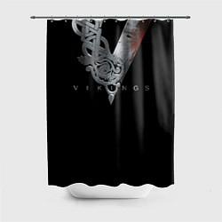 Шторка для душа Vikings Emblem цвета 3D — фото 1