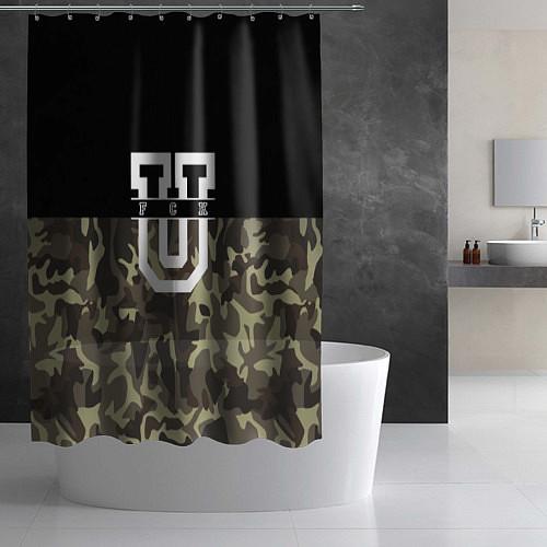 Шторка для ванной FCK U: Camo / 3D – фото 2