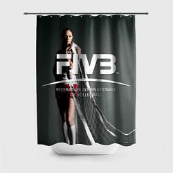 Шторка для душа Волейбол 80 цвета 3D-принт — фото 1