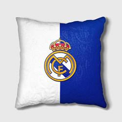 Подушка квадратная Real Madrid цвета 3D — фото 1