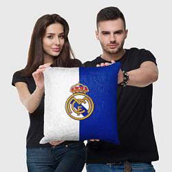 Подушка квадратная Real Madrid цвета 3D-принт — фото 2