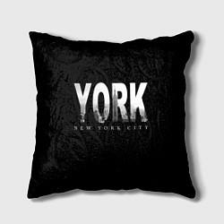 Подушка квадратная New York City цвета 3D — фото 1