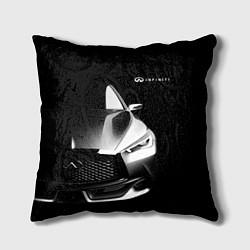 Подушка квадратная Infiniti Sport цвета 3D-принт — фото 1
