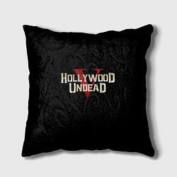 Подушка квадратная Hollywood Undead V цвета 3D — фото 1