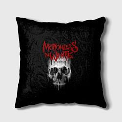 Подушка квадратная MIW Skull цвета 3D-принт — фото 1