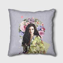 Подушка квадратная Lorde Floral цвета 3D-принт — фото 1