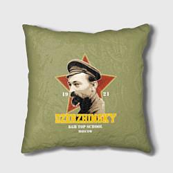 Подушка квадратная Высшая школа КГБ цвета 3D — фото 1