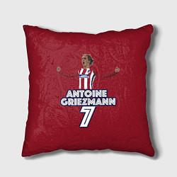 Подушка квадратная Antoine Griezmann 7 цвета 3D-принт — фото 1