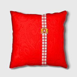 Подушка квадратная Грузия цвета 3D-принт — фото 1