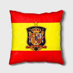 Подушка квадратная Сборная Испании цвета 3D — фото 1