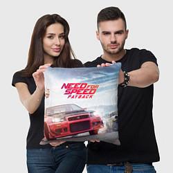 Подушка квадратная Need for Speed: Payback цвета 3D — фото 2