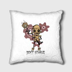 Подушка квадратная Don't Starve: WX-78 цвета 3D-принт — фото 1