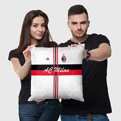 Подушка квадратная AC Milan: White Form цвета 3D-принт — фото 2