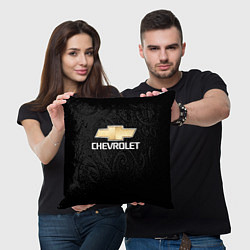 Подушка квадратная CHEVROLET цвета 3D — фото 2