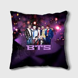 Подушка квадратная BTS цвета 3D — фото 1