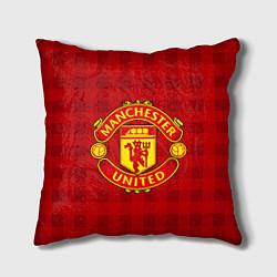 Подушка квадратная Manchester United цвета 3D-принт — фото 1