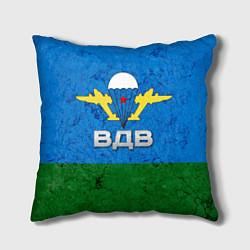 Подушка квадратная Флаг ВДВ цвета 3D — фото 1