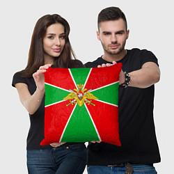 Подушка квадратная Флаг ПВ цвета 3D — фото 2